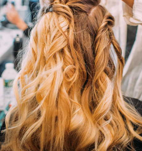 glossy hair for the brides
